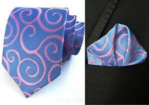 Blue and Purple Paisley Patterned Handmade 100/% Silk Tie Yellow