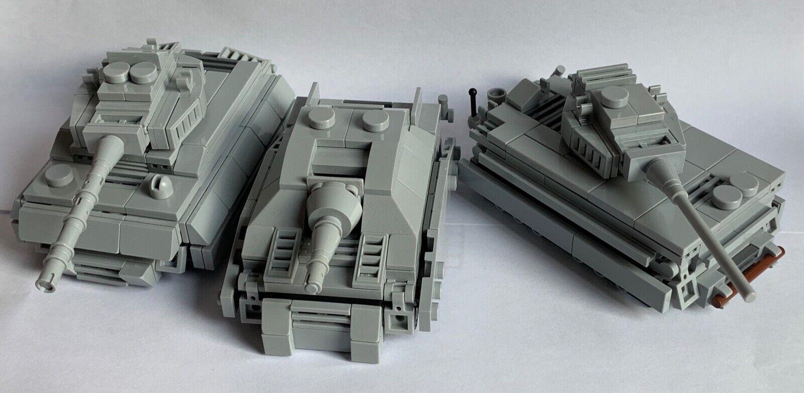 ORIGINALE Lego parti-Micro - 2 tigre serbatoio + 1  STURMTIGER-La mia progettazione personalizzati  edizione limitata a caldo