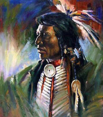 CHOP669 portrait American Indian hand painted modern oil painting art canvas