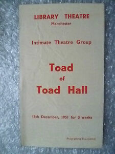 1951-Library-Theatre-Programme-TOAD-OF-TOAD-HALL-by-A-A-Milne