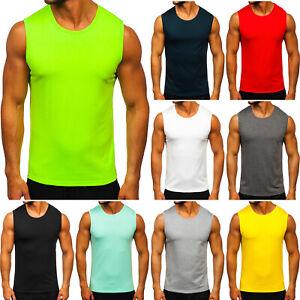 Tanktop Tee T-Shirt Muskelshirt Achselshirt Unifarben Herren