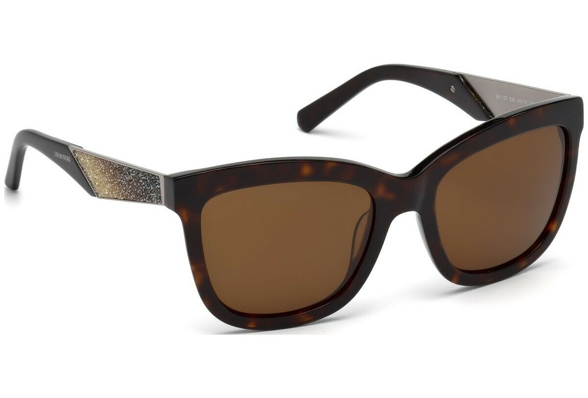 SWAROVSKI SK0125 C54 52E Tortoise Havana Brown Sunglasses 54-19-140 w/Stones