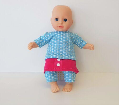 MepsiDesigns Handmade Puppenkleidung Set 3tlg für 36cm my first Annabell NEU Kleidung & Accessoires