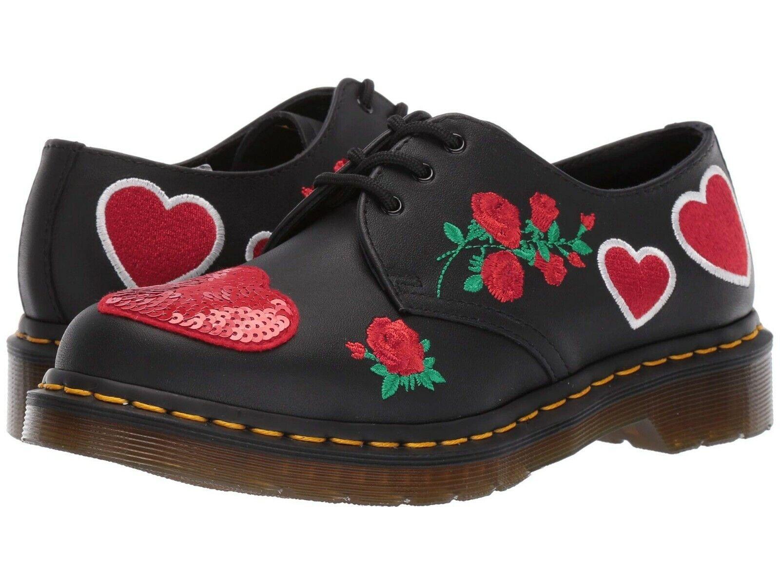 spedizione veloce a te Donna  scarpe scarpe scarpe Dr. Martens 1461 SEQUIN HEARTS Leather Oxfords 24414001 nero  centro commerciale online integrato professionale