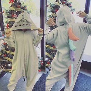 c8ae271222ed Pusheen The Cat Pusheenicorn Pajamas Kigurumi Hooded Zip Up Costume ...