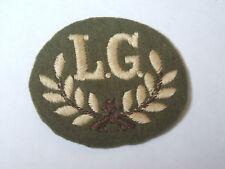 vintage light machine gun marksman L.G   trade cloth patch