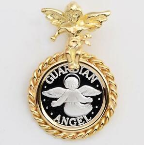 1//20 .999 SILVER  Quarter Horse Coin in S//S Diamond-Cut Earrings
