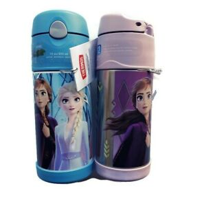 Lot-of-2-Thermos-12oz-Stainless-Steel-Beverage-Bottle-Anna-Elsa-Olaf-Frozen-2