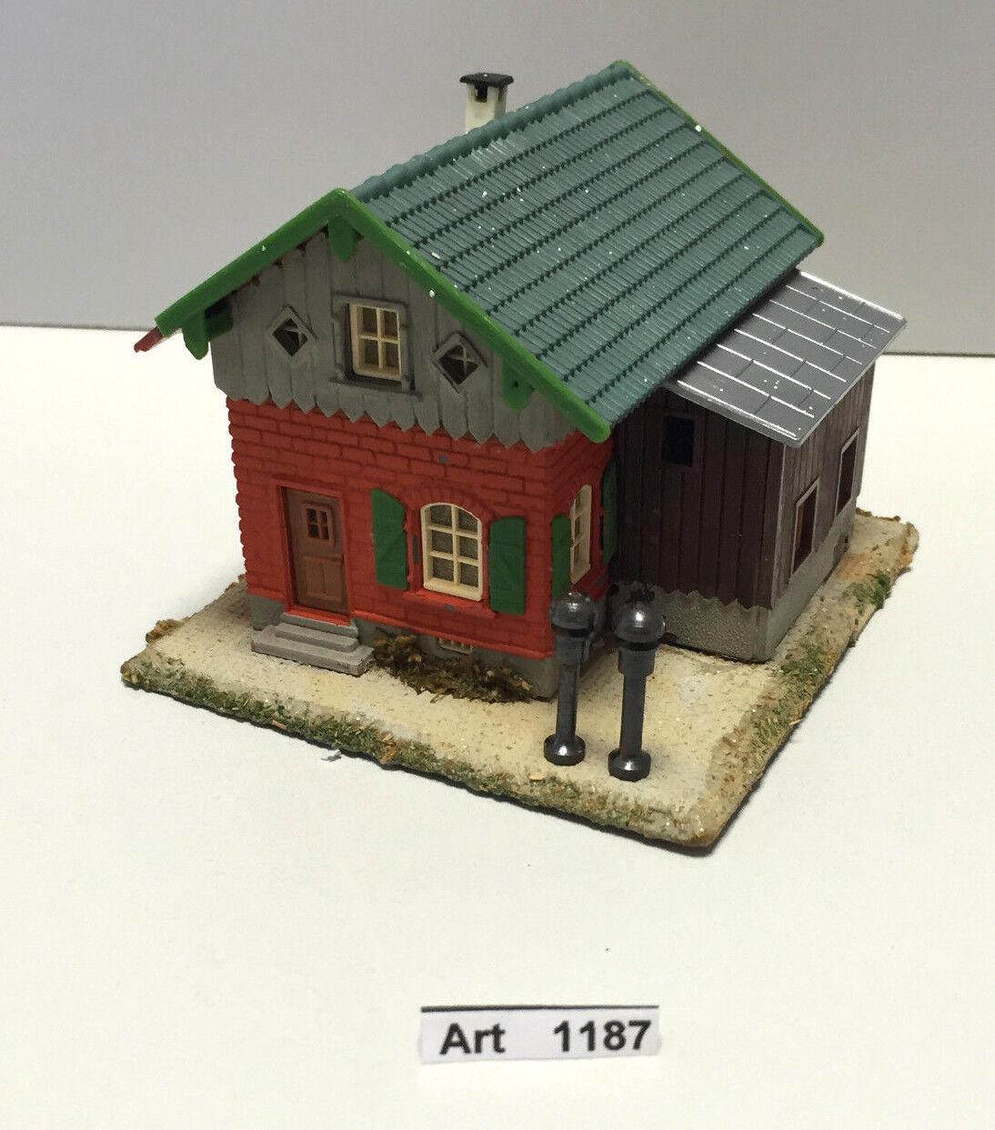 Faller b-130 h0, ferroviario carcerieri casa mattone, con piastra di legno, 1 87, molto raramente & RAR