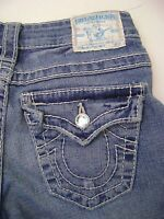 TRUE RELIGION DISCO LILY BIG T CROP $262 SWARVOSKI CRYSTAL WOMEN'S JEANS 25 X 21