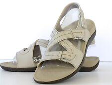 Women's Orthaheel Beige Leather Adjustable Sandals Size 11