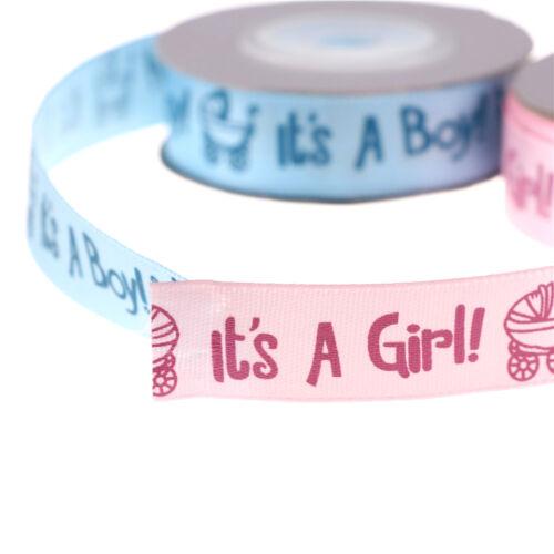 10yards//roll IT/'S A BOY//GIRL Baby Shower Ribbon DIY Grosgrain Ribbon Belt