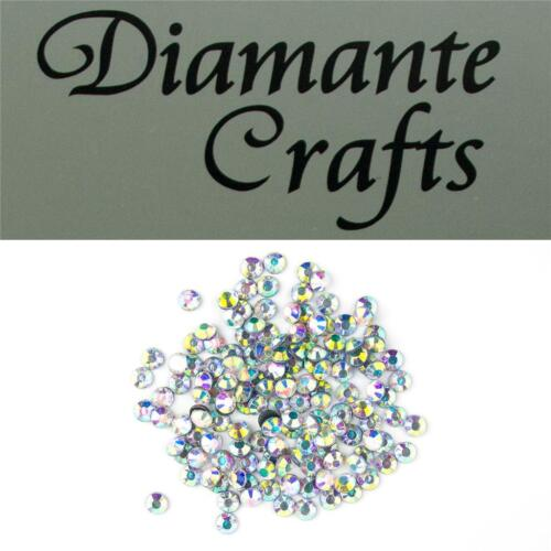 144 ss20 Clear Iridescent Diamante 5mm Iron On Hotfix Rhinestone Loose Gems