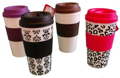 No mouth piece to keep clean! 16oz Insulated Travel Mug in a variety of designs