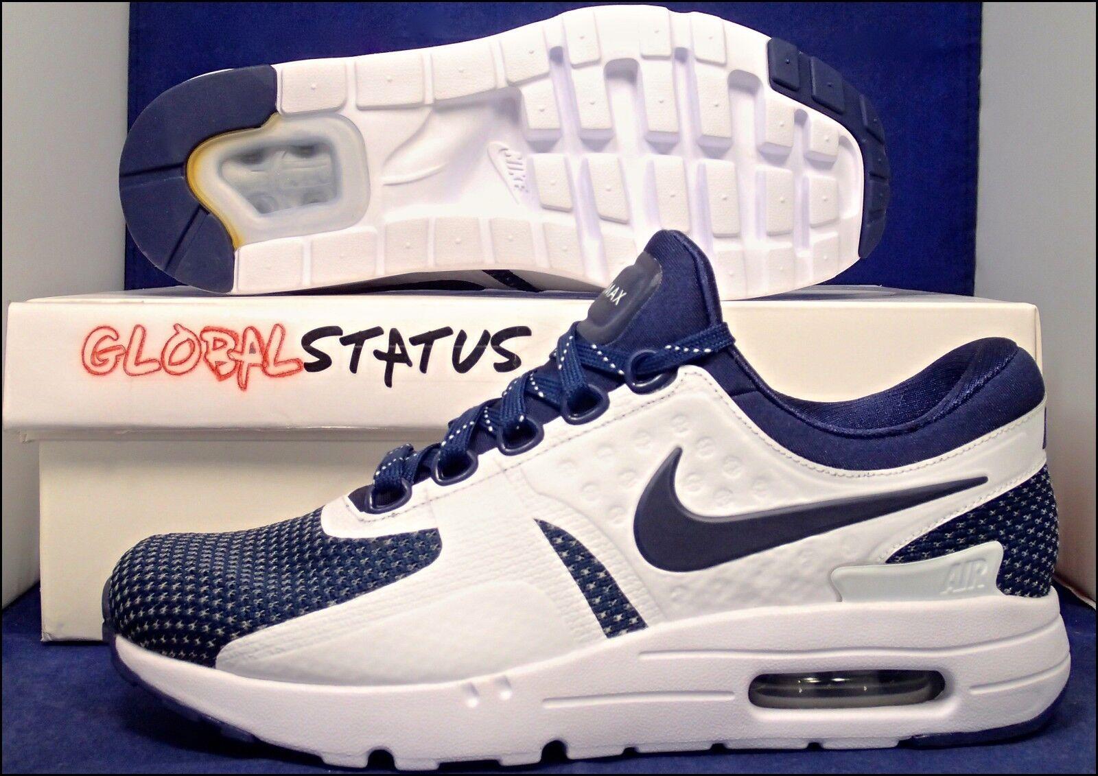 ID de Nike Air Max Zero Midnight Navy zapatos Azul zapatos Navy blancos 853860 901 hombre mujer 8 6,5 519640