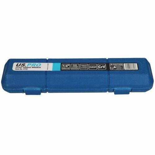 """pro Tools AT431 Unidad 1//4/"""" Haga Clic Llave Dinamométrica 5-25Nm//4-18 Ft//Lbs Por u.s"""