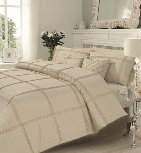 NEW Hamlet Pleated Squares Bedding Duvet Quilt Cover Pillowcases All Sizes
