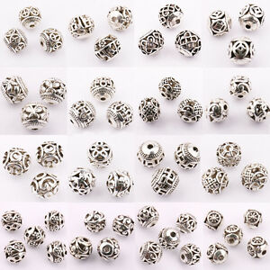 Wholesale-10-20Pcs-Silver-Plated-DIY-Charms-Jewelry-Making-Loose-Spacer-Beads
