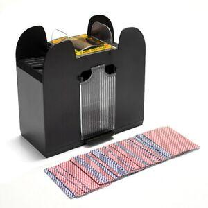 Kartenmischer-elektrisch-6-Decks-Kartenmischgeraet-Poker-Mischmaschine-Schwarz