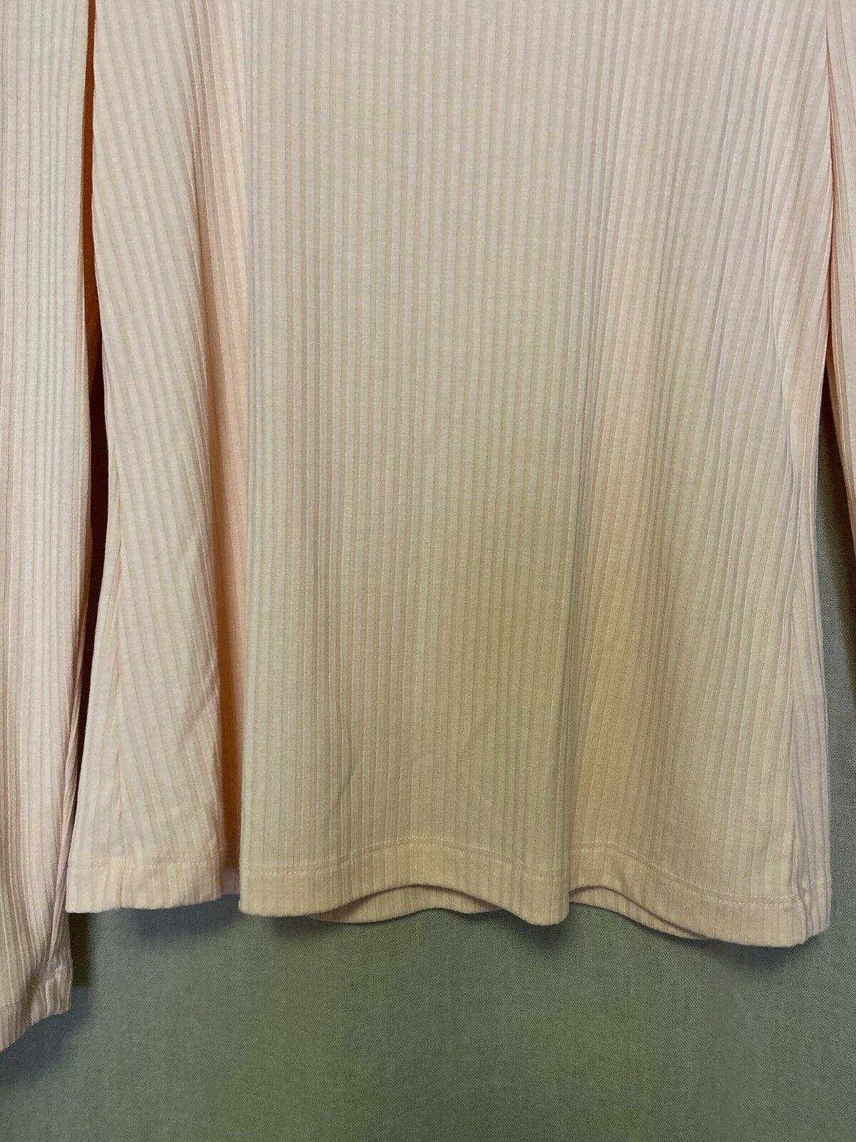 Anthropologie Size Small Peach Ribbed Long Sleeve… - image 5