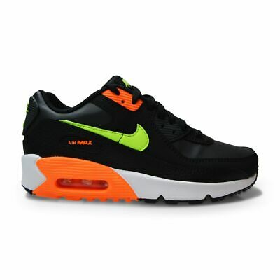 Juniors Nike Air Max 90 GS - CV9643 001 - Black Ghost Green Total Orange   eBay