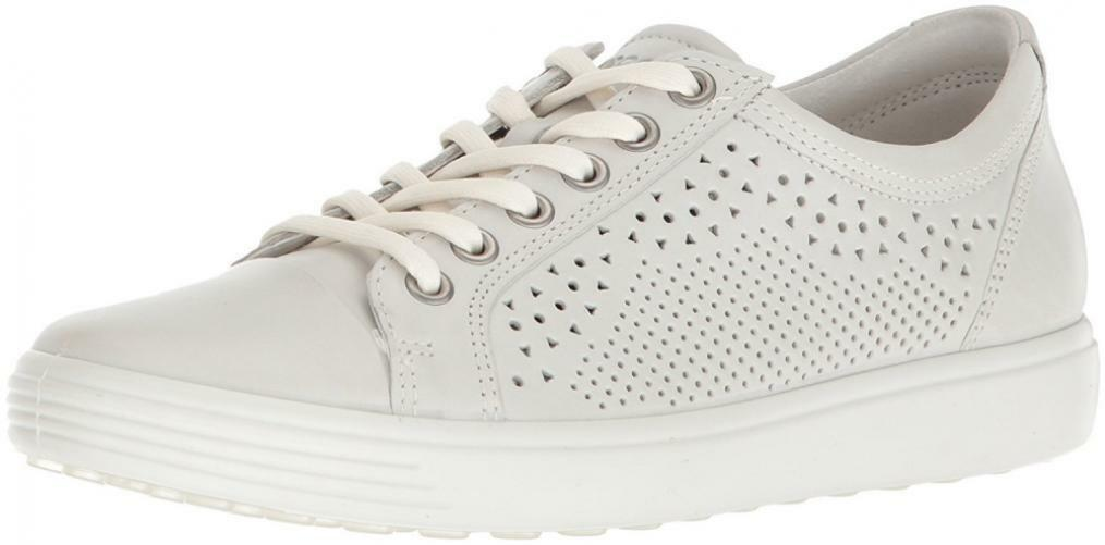 ECCO Women's Soft 7 Leather Walking Casual Fashion Sneaker Lace Up Work