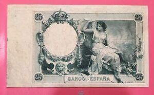 Clasico-25-Pesetas-De-1908-S-C-Trial-Verde-Prueba-Rarisimo