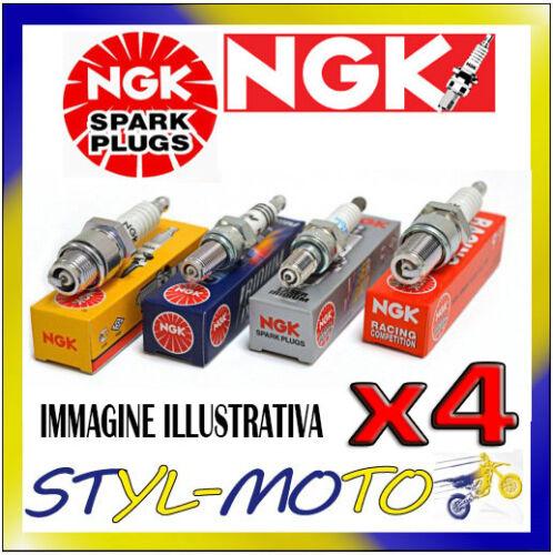 KIT 4 CANDELE NGK SPARK PLUG BKUR6ET-10 SEAT Ibiza 16V 1.4 55 kW BBY 2002