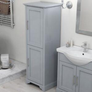Détails sur Traditionnel Gris Chêne salle de bains 1540 mm lingère 2 portes  meuble de rangement Armoire Unité- afficher le titre d\'origine