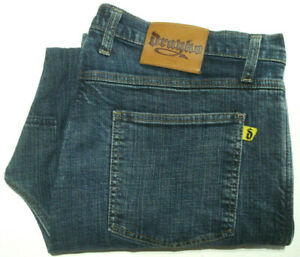 DRAYKO-MENS-SIZE-W38-X-L28-5-MOTORCYCLE-BLUE-DENIM-JEANS-MADE-IN-AUST-FREE-POST