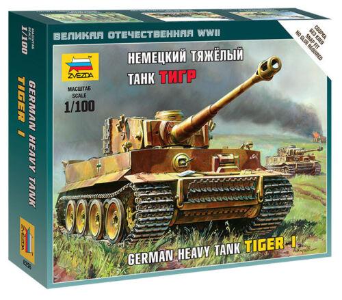 Zvezda 6256-1//100 Wargame Addon German Heavy Tank Tiger I Neu