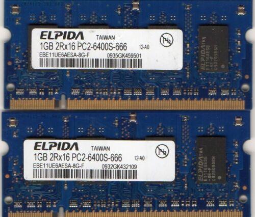 NEW 2GB 2x 1GB Kit Compaq Presario F500 F700 DDR2 Laptop//Notebook RAM Memory