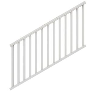 Outdoor Stair Railing Kit White 6 Ft X