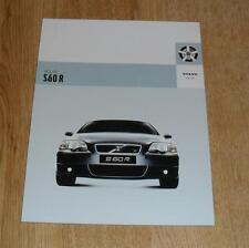 Volvo S60R Saloon Brochure 2003