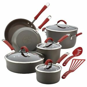 image is loading rachael ray cucina cookware set hard anodized aluminum