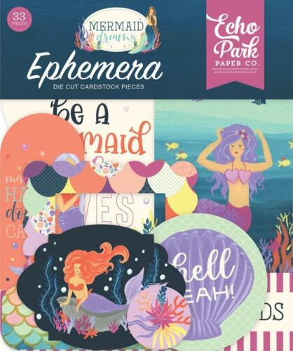 Echo Park MERMAID DREAMS Ephemera Die Cut Pieces 33p MDR175024
