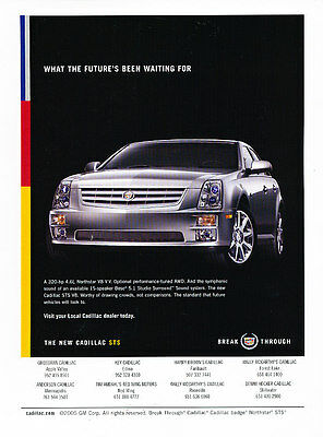 Crowded Room 2005 Cadillac STS Classic Vintage Advertisement Ad A9-B