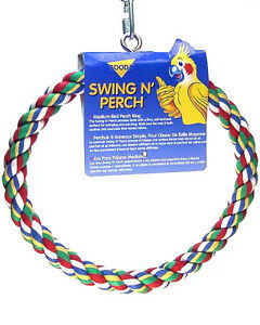 BOODA BYRDY COMFY SWING N PERCH BIRD LARGE PREENING ROPE FREE SHIPPING TO USA