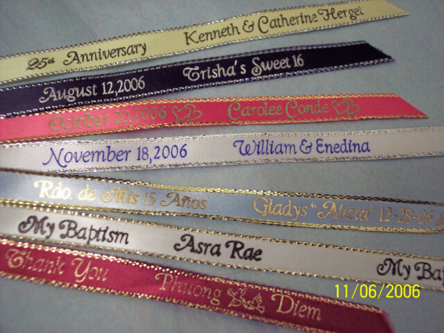 Personalized 100 Ribbons Party Favors Wedding Quinceanera Baby