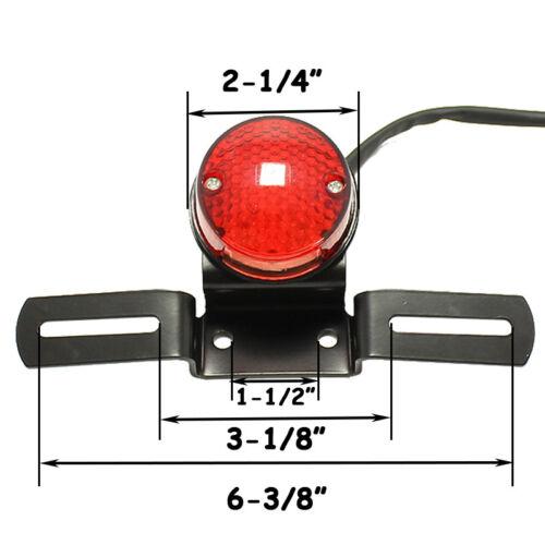 Custom Motorcycle ATV Cafe Racer Tail Brake Stop Lights License Plate Bracket