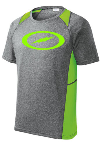 Storm Men/'s Fight Performance Crew Bowling Shirt Dri-Fit Heather Lime Green