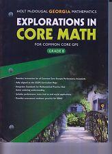 Holt McDougal GA Mathematics Explorations In Core Math Common Core GPS 8 (E1-4)