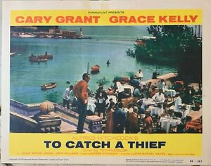 Alfred Hitchcock'S TO CATCH A THIEF 1955 ORIGINALE LOBBY CARD #6 - Grant & Kelly