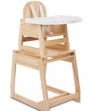 Item 3 New Mothercare Wooden Baby Highchair Converts To A Toddler Chair Table