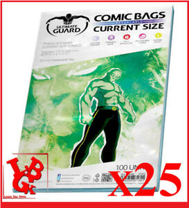 Pochettes-Protection-CURRENT-Size-REFERMABLES-comics-VO-x-25-Marvel-NEUF