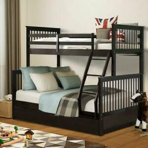 Cool Details About Kids Bunk Bed Twin Over Full Solid Wood Wooden Bunk Beds W Storage Drawers Gmtry Best Dining Table And Chair Ideas Images Gmtryco