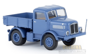 Brekina-71450-Ifa-S-4000-1-Tractor-Blue-1965-Car-Model-1-87-H0