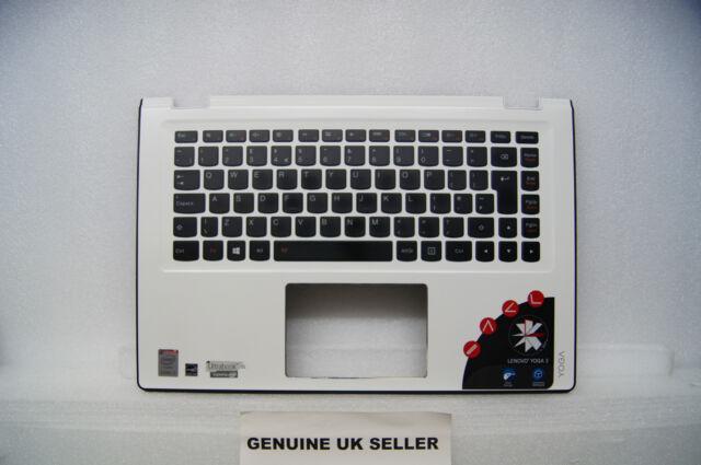 WORKING Lenovo YOGA UltraBook 3 14 Palmrest & UK Led Keyboard AP0YC000310 WHITE