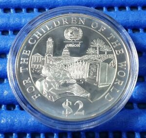 1997-Singapore-UNICEF-Children-of-the-World-Commemorative-2-Silver-Proof-Coin