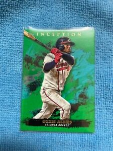 2021 Topps Inception Green Parallel, Ozzie Albies, Braves